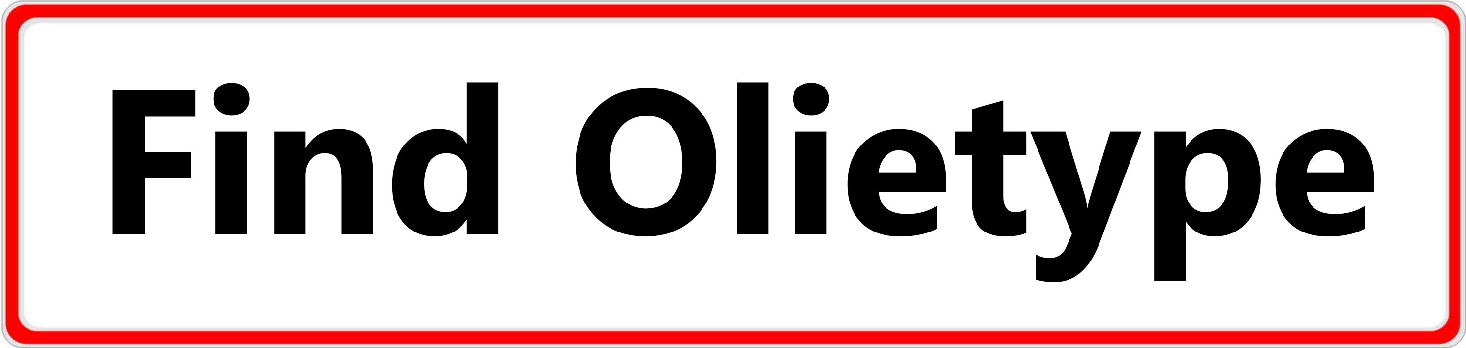 Find olietype - Hvid